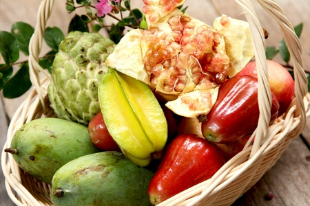 Basket of  fruits photo