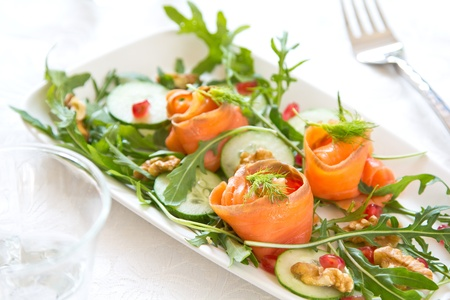 Smoked salmon salad photo