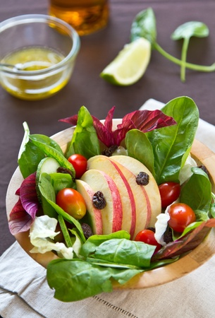 Apple and spinach salad Stock Photo - 12100020