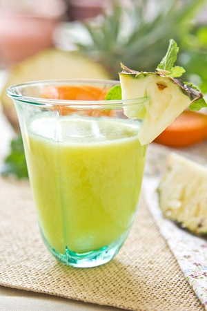 Pineapple and Guava smoothie Stock Photo