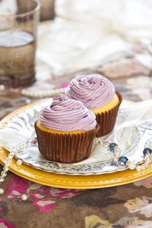 Violet cupcake photo