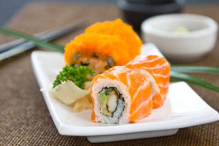 Sushi ,Salmon rolles  photo