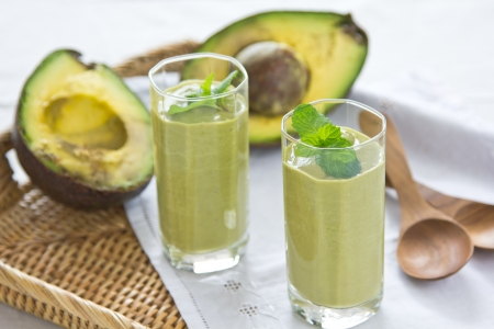 detox: Avocado smoothie   Healthy drink