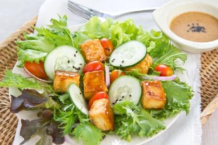 Tofu salad with sesame dressing photo
