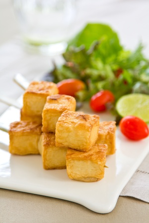 Grilled Tofu with salad