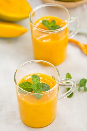 Mango smoothie Stock Photo
