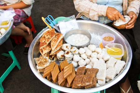Burmese snack [street food ] photo