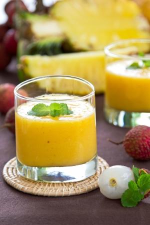 Lychee,Pineapple and Mango smoothie photo