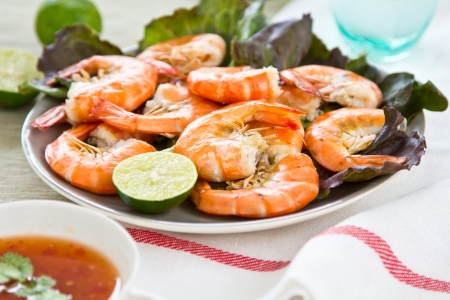 Steamed Prawn with sweet chilli sauce photo