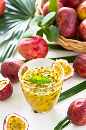 Passion fruit juice photo
