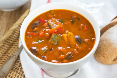 Minestrone soup [Bean,Zucchini soup]  photo