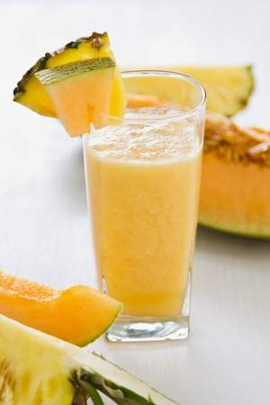 Melon and Pineapple smoothie photo