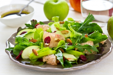 sweet and savoury: Apple,Grapefruit and Cranberry salad