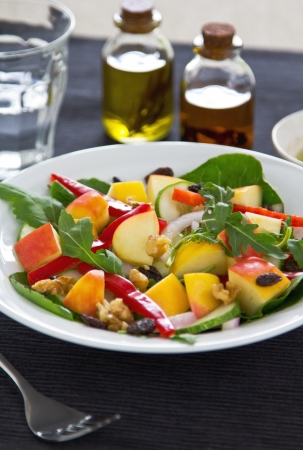 Apple,rocket and walnut salad photo