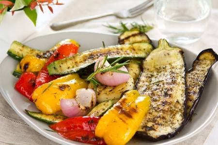 zapallitos: Ensalada de verduras a la parrilla