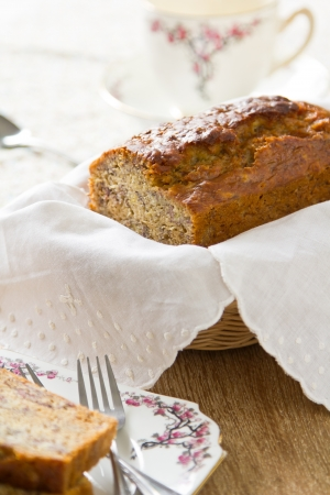 Banana cake loaf photo