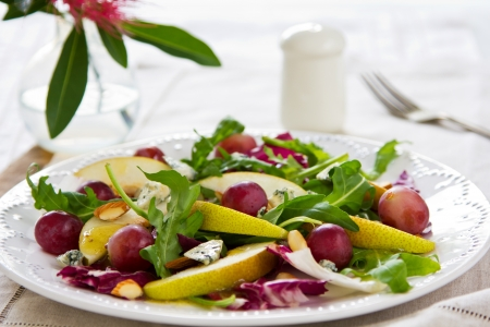 radicchio: Pear with Grape,Blue cheese,Radicchio and almond salad