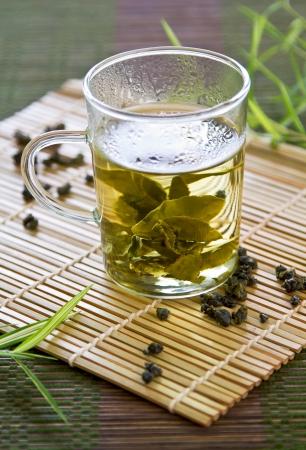 oolong: Oolong Tea in glass
