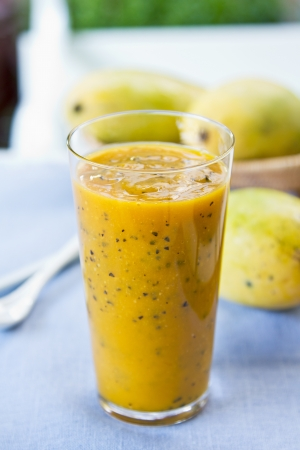 Mango with Passion fruit smoothie by fresh Mango photo
