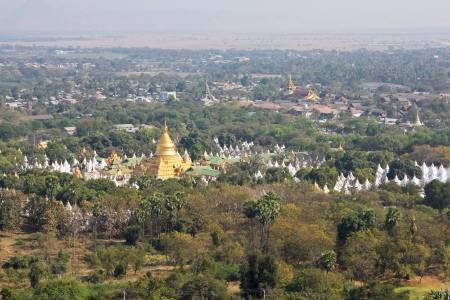 bird eye view: Mandalay city scenery from Mandalay hill, Burma