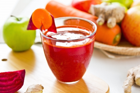Beetroot with Carrot,apple,and ginger juice