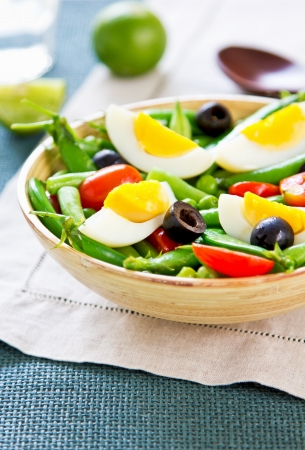 snap bean: Green bean with Snap pea and egg salad