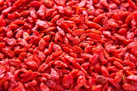 lycium: Dried Goji berries also known as Lycium chinese