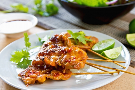 Grilled chicken with Thai chilli sauce photo