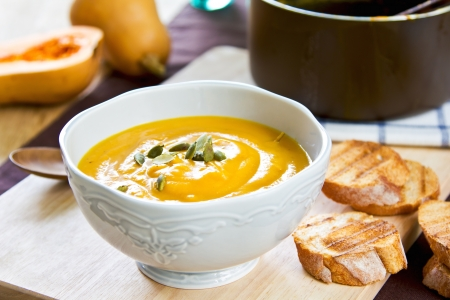 Butternut squash soup by some toasts photo