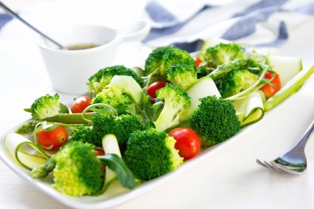broccoli salad: Broccoli with Asparagus,Zucchini and Rocket salad