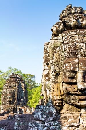 Detail of Bayon in Angkor Thom,Sim Reap, Cambodia photo