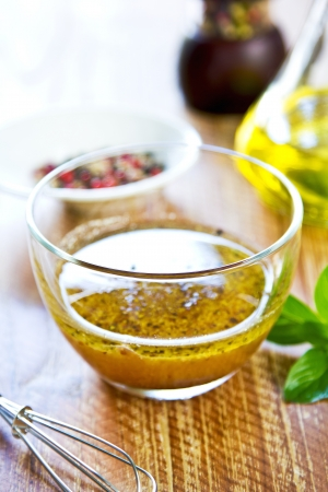 Homemade Wholegrain mustard vinaigrette by fresh ingredients photo