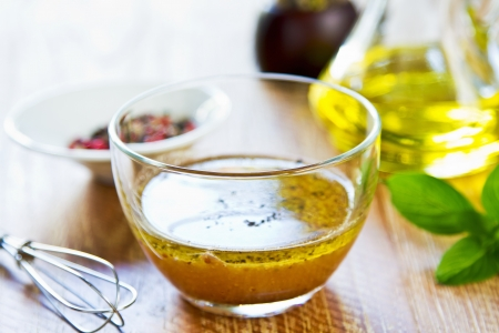 food dressing: Homemade Wholegrain mustard vinaigrette by fresh ingredients