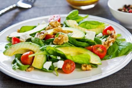 Avocado with Spinach, Feta and Walnut salad photo