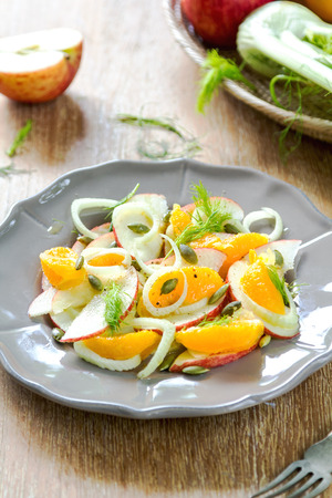 fennel seed: Orange with Apple and Fennel salad by fresh ingredients