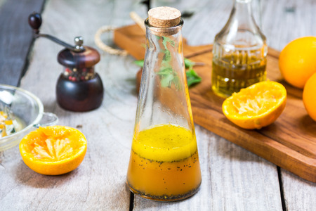 Homemade Orange salad dressing with poppy seed