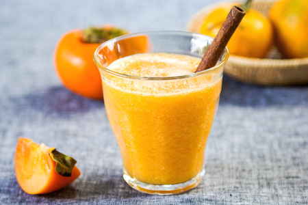 persimmon: Persimmon with orange smoothie by fresh ingredients