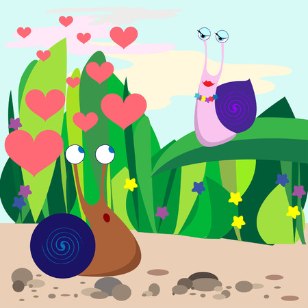 see weed: fall in love snail