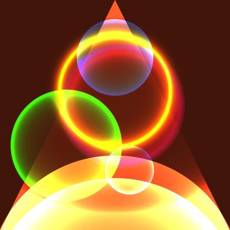 fib: C�rculos que brillan intensamente abstractos en espacio abierto