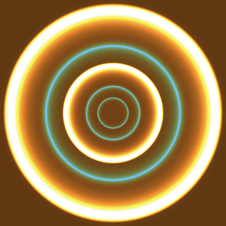 aureole: abstract glowing circles