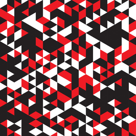 malice: abstract infinite pattern of red, white and black colors