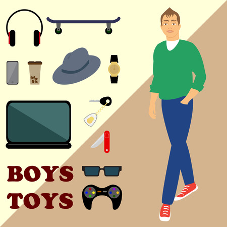 predilection: boy and set men s toys