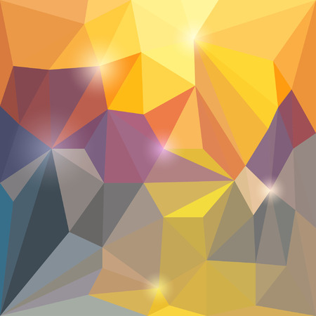 varied: Abstract vector triangular geometric background with glaring lights