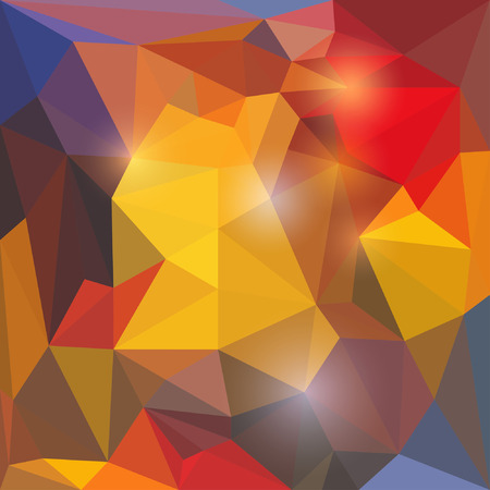 reverberation: Abstract vector triangular geometric background with glaring lights