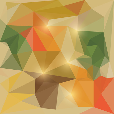 dissimilar: Abstract autumn colored vector triangular geometric background with glaring lights