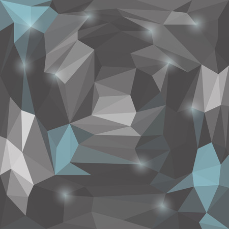 glaring: Abstract vector triangular geometric background with glaring lights