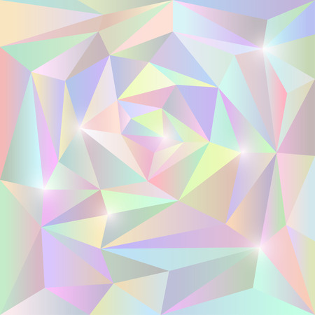 Abstract soft gradient colored vector triangular geometric background with glaring lights Illustration