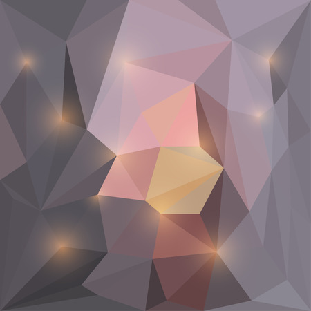 blended: Abstract vector triangular geometric background with glaring lights