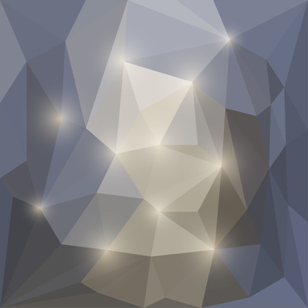 shatter: Abstract vector triangular geometric background with glaring lights