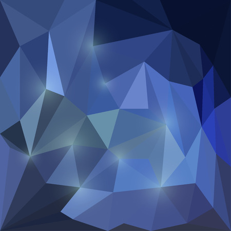Abstract vector triangular geometric background with glaring lights